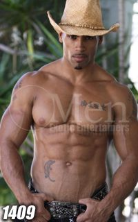 Black Male Strippers 1409-1 ---GENUINE---